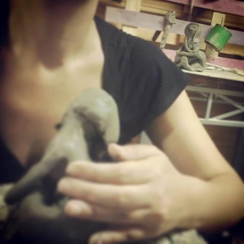 lavorazione della ceramica claudia di mario art in progress