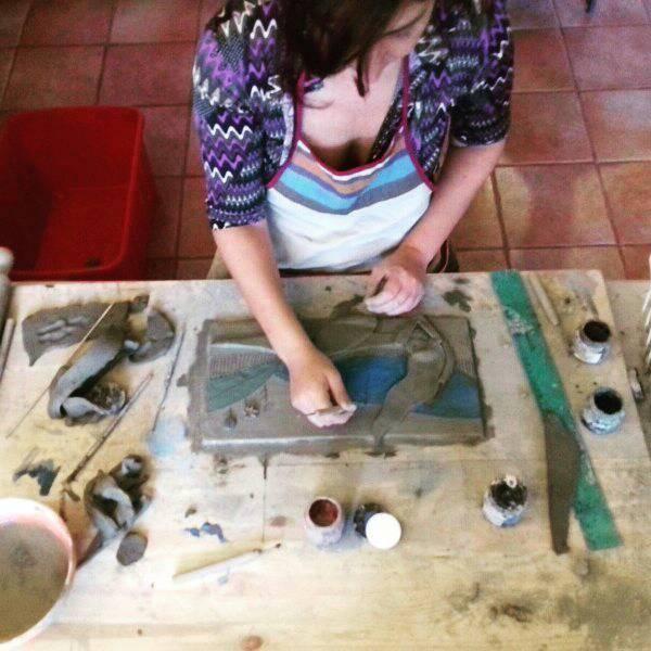 claudia di mario lavorazione della ceramica art in progress