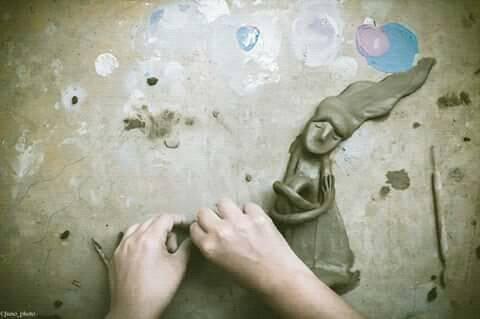 lavorazione della ceramica claudia di mario work in progress