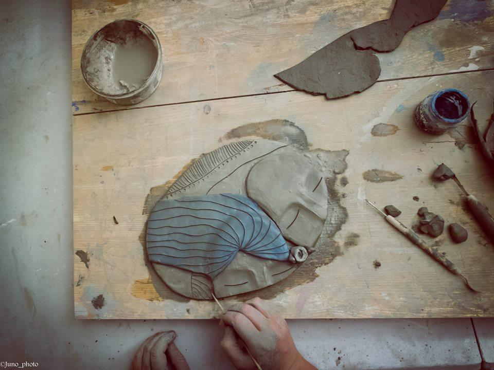 lavorazione della ceramica art in progress