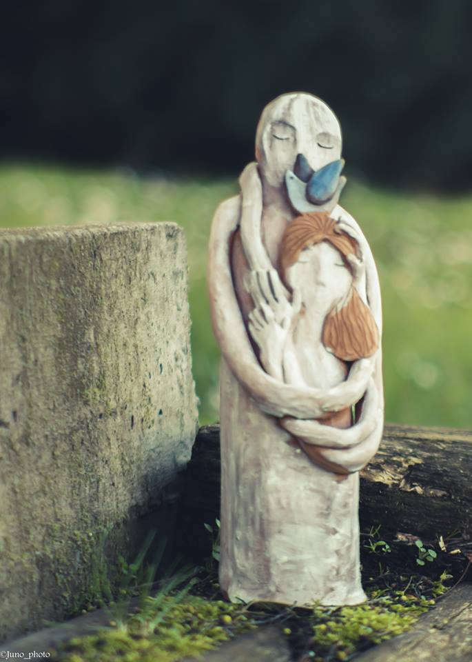 scultura in terracotta claudia di mario